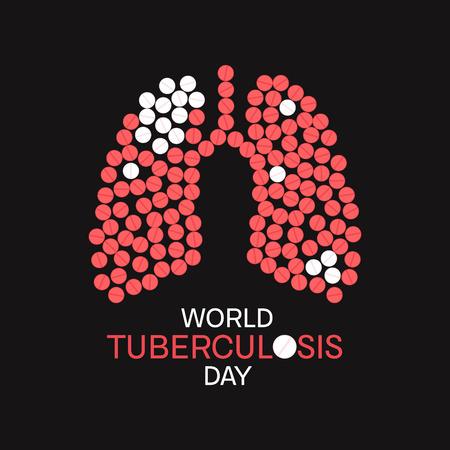 Tuberculosis awareness poster Stock Photo