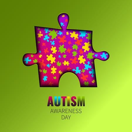 Recorte de la conciencia del autismo impresiones
