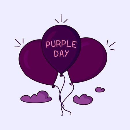 air awareness: Purple day poster