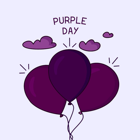 Purple day poster