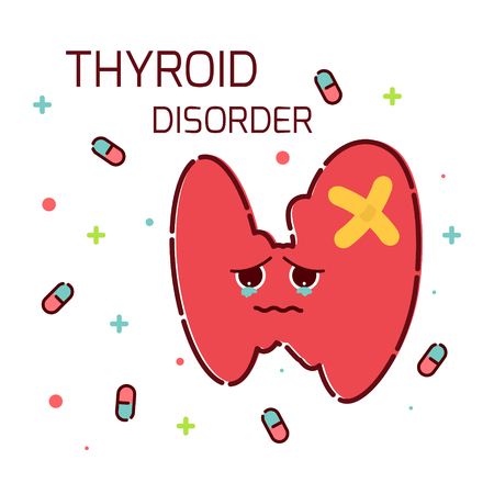 secretion: Thyroid gland disorder Illustration