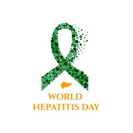 hbv: Hepatitis ribbon poster Stock Photo