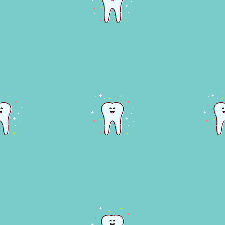 Teeth seamless pattern Stock Photo