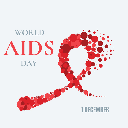 aids awareness ribbon: World AIDS Day poster