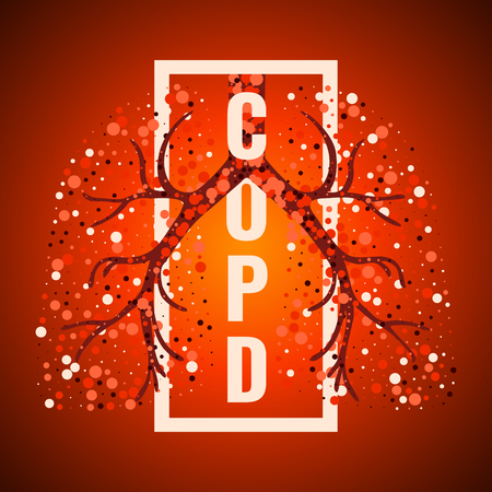 COPD day frame poster with lungs