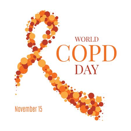 alveolos: Cartel de la cinta del día de la EPOC Foto de archivo