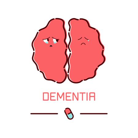 Dementia disease poster. Stock Vector - 93883118