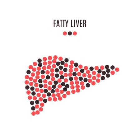 Fatty liver pills awareness poster Illustration