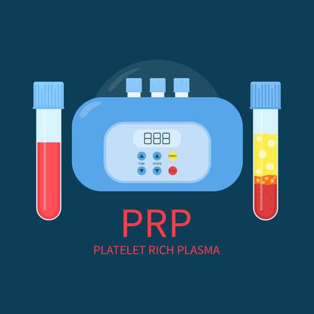 Zestaw sprzętu laboratoryjnego PRP Ilustracje wektorowe