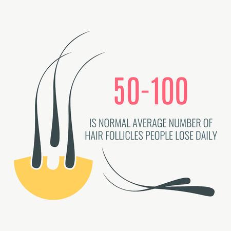 Hair loss amount infographics.