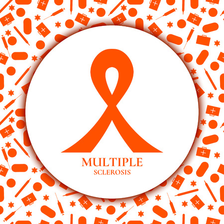 Multiple sclerosis ribbon Vector illustration.