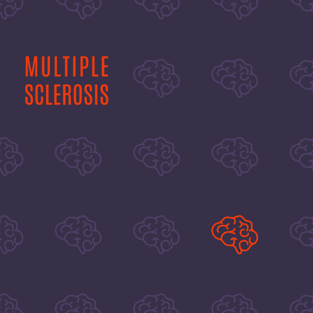 Multiple sclerosis pattern poster Vector illustration.