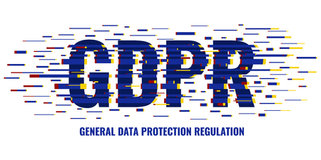 GDPR glitch poster Illustration
