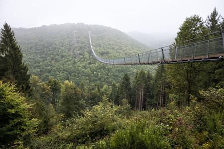 Geierlay suspension bridge in Germany