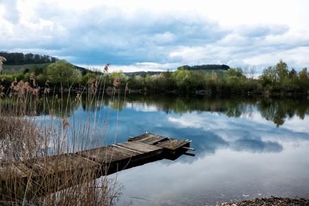 Haff Reimech pond view 写真素材