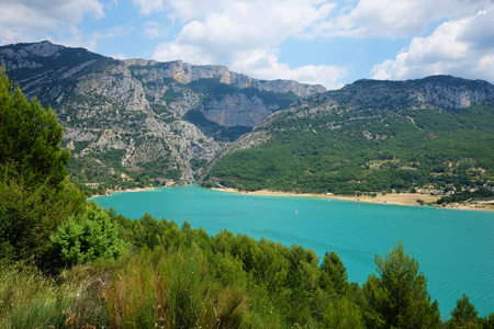 Verdon Gorge and lake Sainte-Croix in France Stockfoto - 116125319