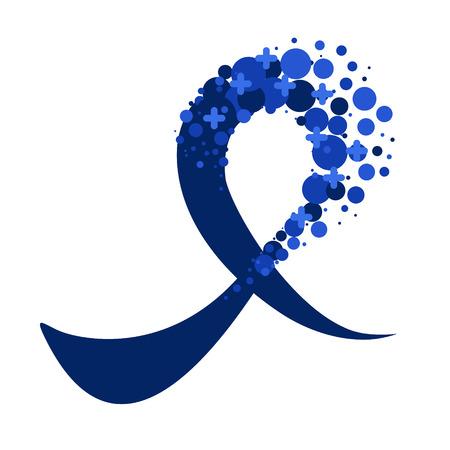 Blaues Bewusstseinsband für Prostata- und Darmkrebs