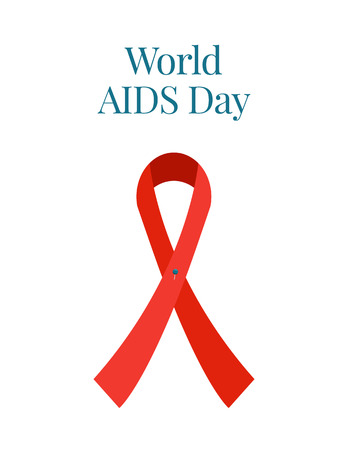 World AIDS Day awareness red ribbon poster