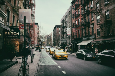 Soho street view in New York City Editorial
