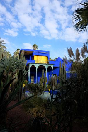 Exterior of Majorelle garden in Marrakech, Morocco.