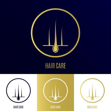 Haarfollikel-Icon-Set als Symbol der Haarpflege