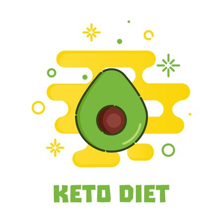 Avocado symbolising Ketogenic diet for wellness concept