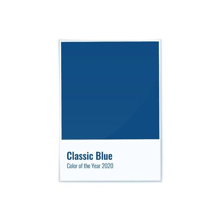 Classic Blue Color of the Year 2020 vector illustration