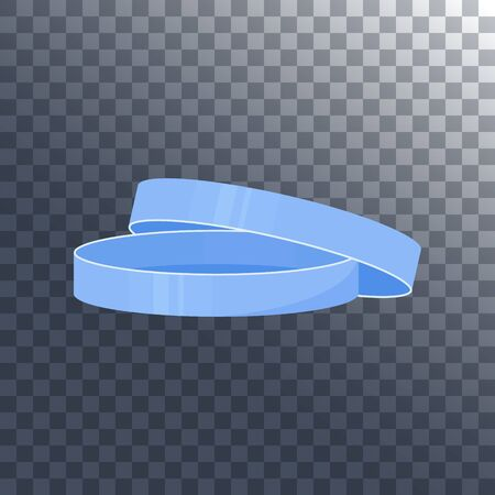 Petri dish with a lid icon on transparent background