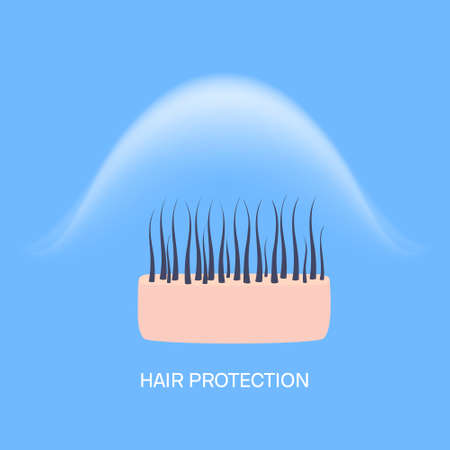 Weather damage prevention and hair protection concept