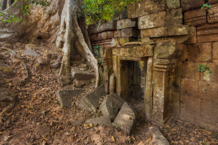 angkor thom: Angkor Thom. Ancient Khmer pre Angkor architecture Stock Photo