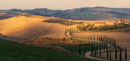 Italy. Tuscany. Morning at villa Agriturismo Baccoleno