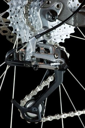 Mountain bike  rear derailleur photo