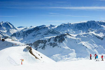 Ski slope in Meribel Valley, French Alps photo