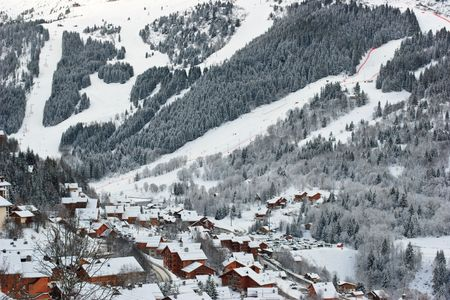Meribel ski resort after snow storm Stock Photo - 3552631