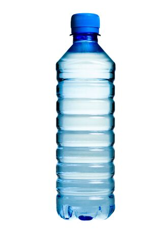 PET bottle with  drinking water isolated on white photo