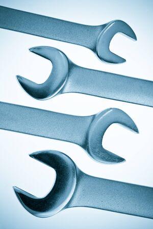 lug: Set of chrome lug  wrenches toned