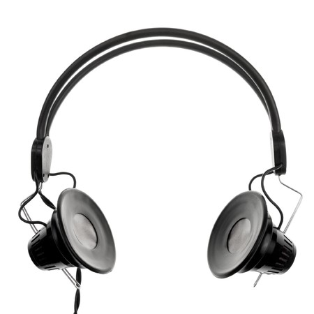 Vintage headphones on white background Stock Photo - 4301140