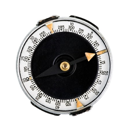 Round compass isolated on white background Stock Photo - 4322311