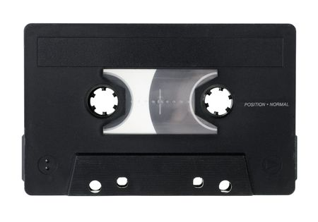 Vintage Compact Cassette on white background Stock Photo - 4651963