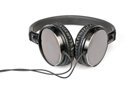 hifi: HIfi headphones on white background Stock Photo