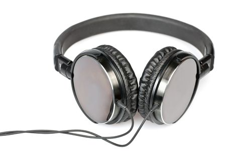 hifi: Hi-fi headphones on white background