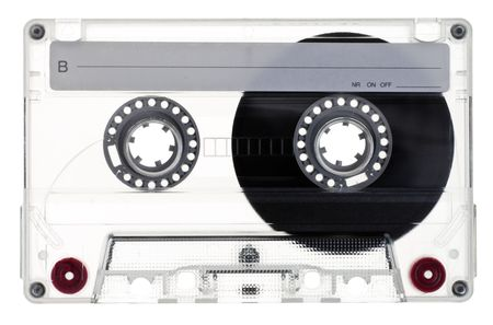 Transparent Compact Cassette B-side on white background Stock Photo - 5520956