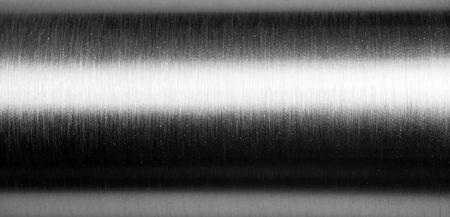 Steel Pipe: Shiny brushed metal pipe surface