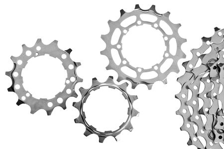 sprocket: MTB chainrings on white background