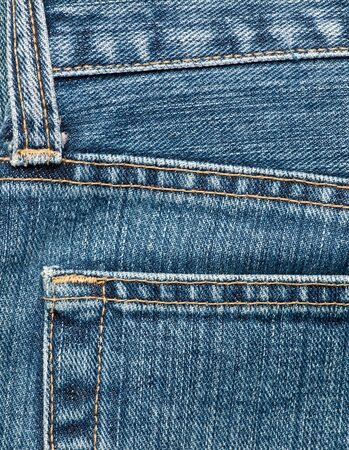 empty pocket: Blue jeans detail with empty pocket