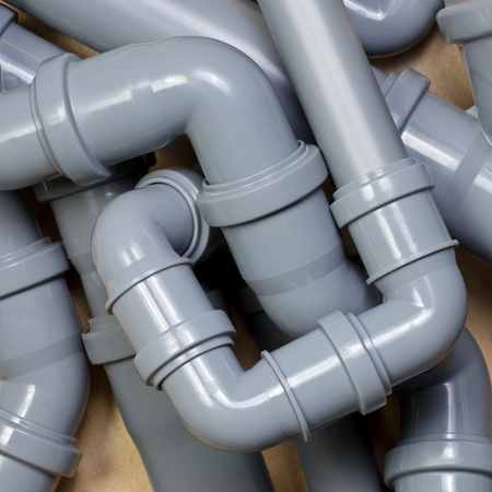 sewer pipe: Grey PVC sewer pipes  background