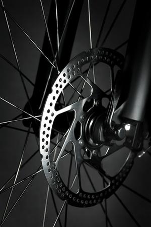 Mountain bike front wheel with mechanical disc brake Stock Photo - 10043508