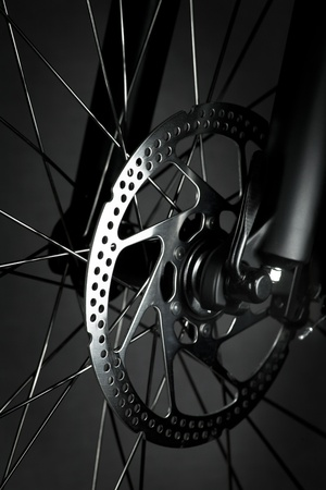 spare parts: Mountain bike front wheel with mechanical disc brake