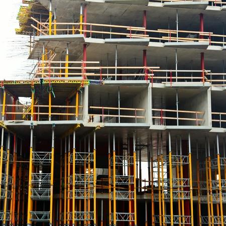 formwork: Reinforced concrete building construction site