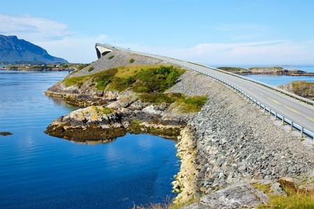Storseisundet Bridge on the Atlantic Road in Norway photo